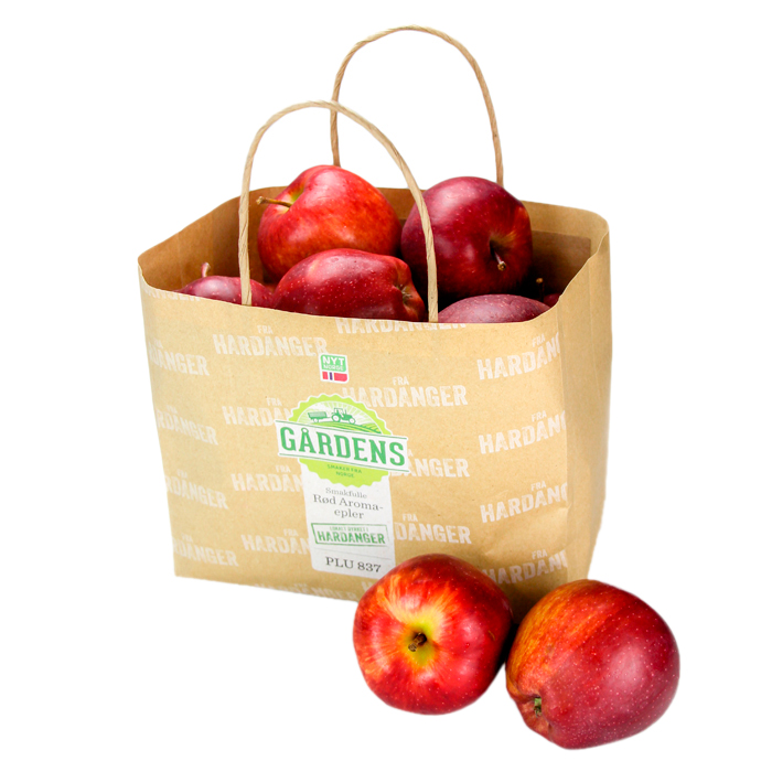 Bolsa de papel Kraft sin ventilación para manzanas