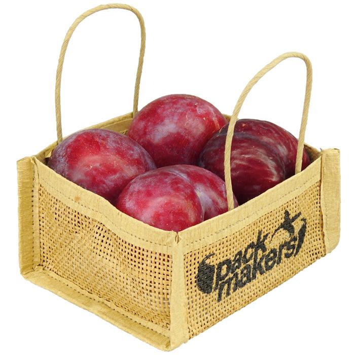 Bolsa de papel Wet strenght con ventilación y asa blanca para uva